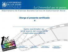 certificado Creatividad Periodistica